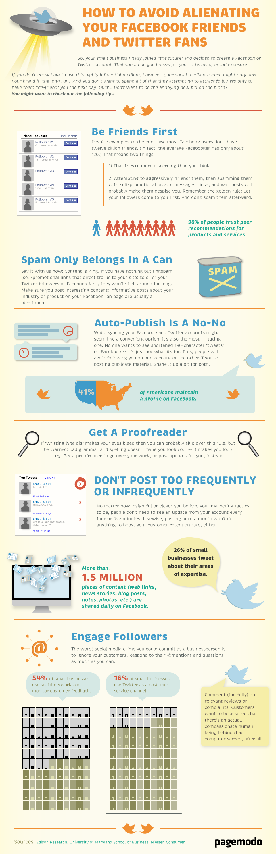 How to Avoid Alienating Your Facebook Friends & Twitter Fans [INFOGRAPHIC]