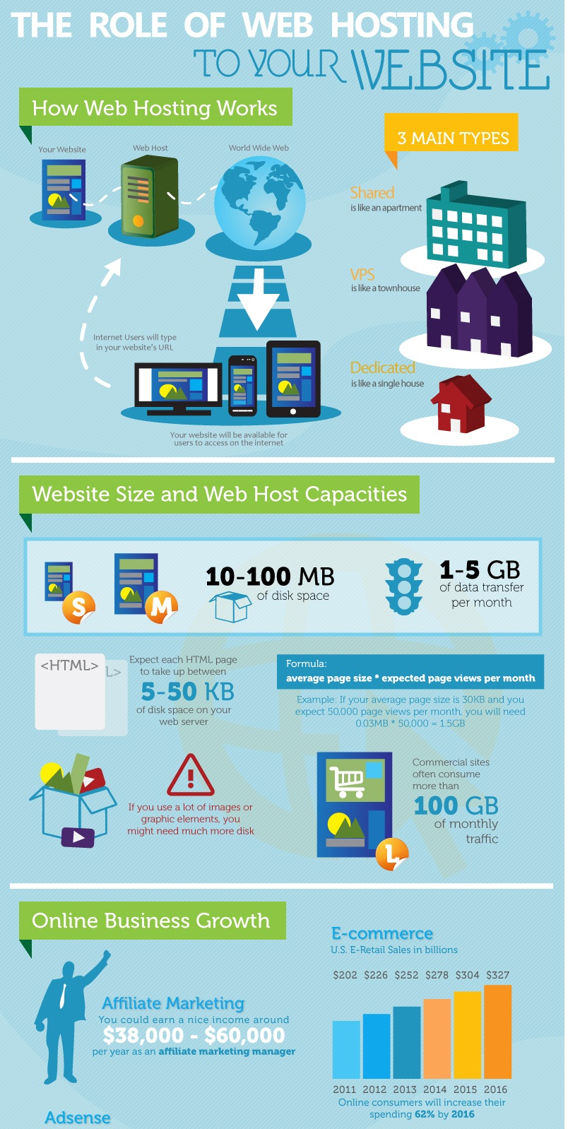 Infographic : The Introduction into Web Hosting