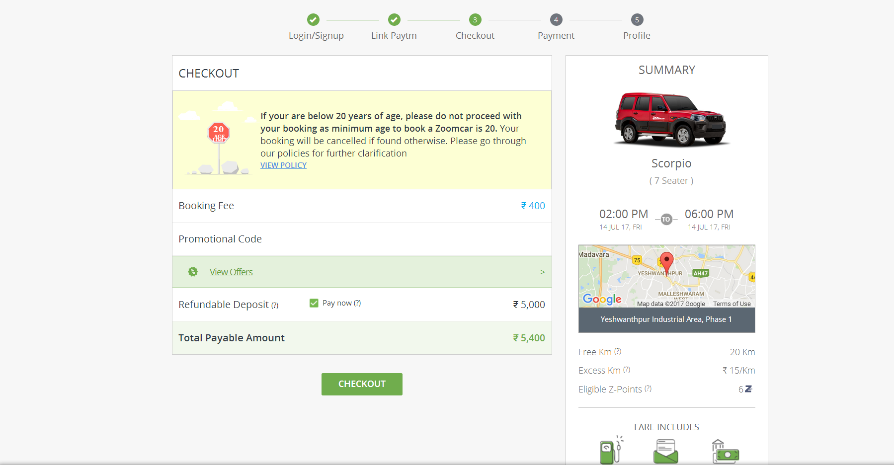 How To Book A Self Drive Car Through Zoomcar Infographics King