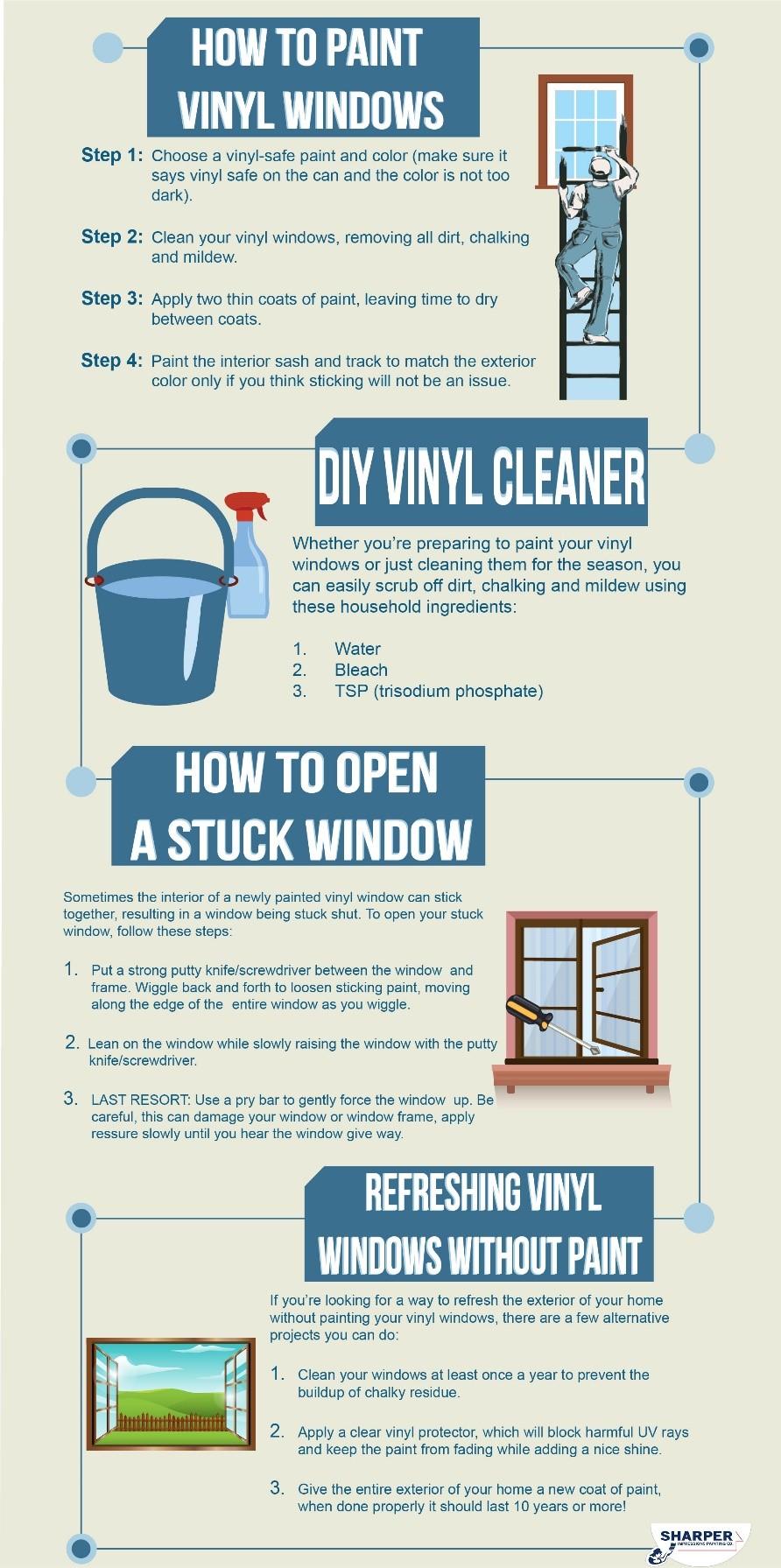 Infographic : How To Paint Vinyl Windows
