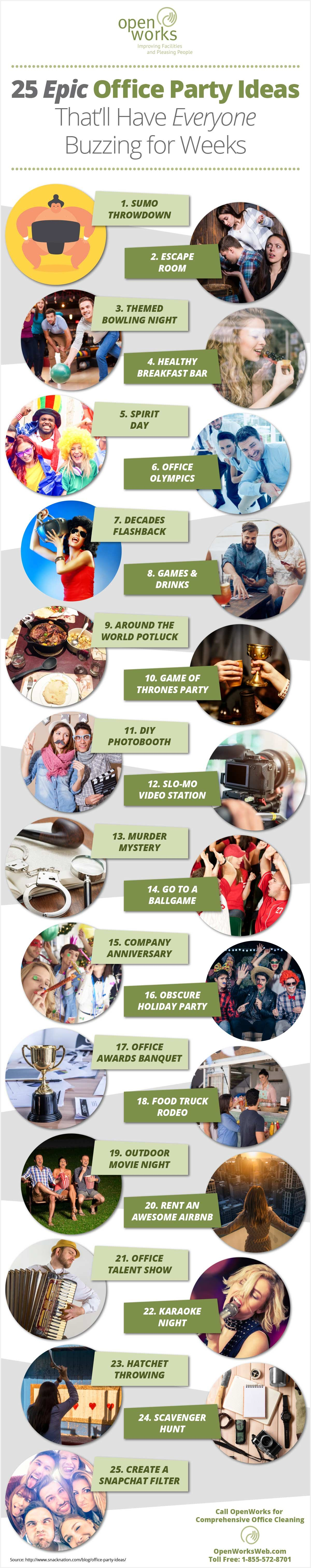 Infographic : OpenWorks Holiday Party Ideas