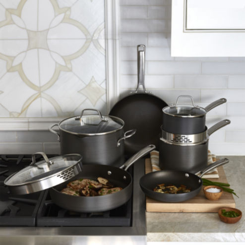 Calphalon Classic 10-pc. Hard-Anodized Nonstick Cookware Set